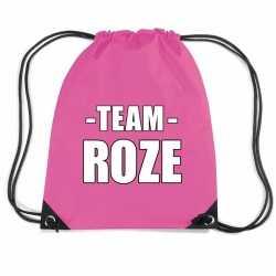 Sportdag team fuchsia roze rugtas/ sporttas