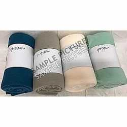 Taupe fleece deken/kleed 130 bij 160