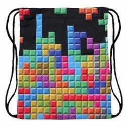 Tetris print rugtas rijgkoord