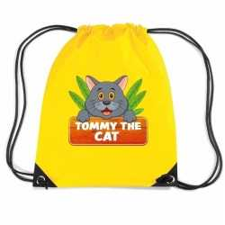 Tommy the cat katten rugtas / gymtas geel kinderen