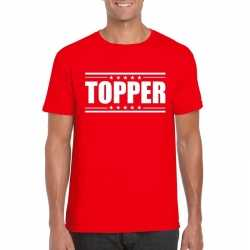 Toppers topper t shirt rood heren