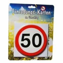 Uitnodigingen 50 jaar verkeersborden print
