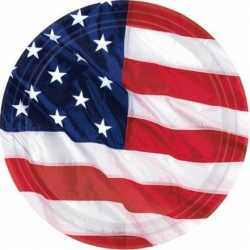 USA bordjes 8 stuks 17,7