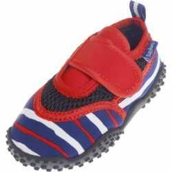 Uv waterschoenen blauw/rood gestreept kinderen