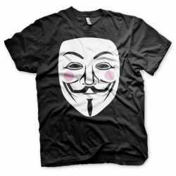 V for Vendetta t-shirt heren