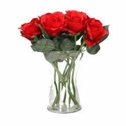 Vaas 8 rode rozen 30