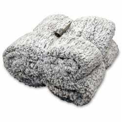 Vacht plaid/deken knut antraciet grijs 150 bij 200