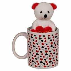 Valentijnscadeau beker knuffelbeer