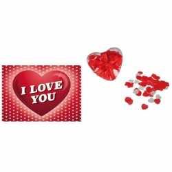 Valentijnsdag cadeau hartjes bad confetti valentijnskaart