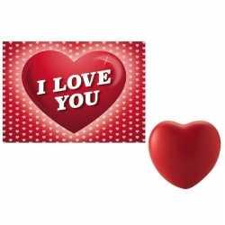 Valentijnsdag cadeau hartvormige stressbal valentijnskaart