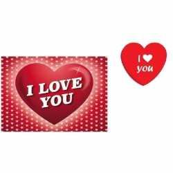 Valentijnsdag cadeau i love you snoepjes blikje kaart