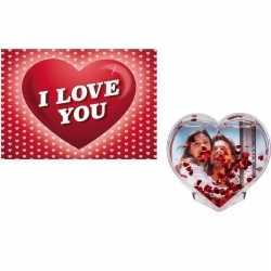 Valentijsdag cadeau 3d hart fotolijst valentijnskaart