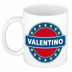 Valentino naam koffie mok / beker 300 ml