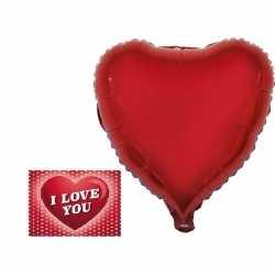 Valetijnsdag cadeau folie ballon hart 52 valentijnskaart