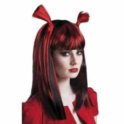 Vampier pruik rood dames