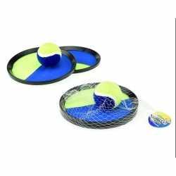Vangbalspel klittenband blauw/geel 18
