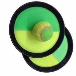 Vangspel klittenband groen/geel