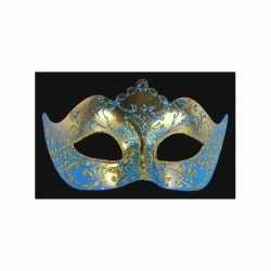 Venetiaans barok oogmasker blauw