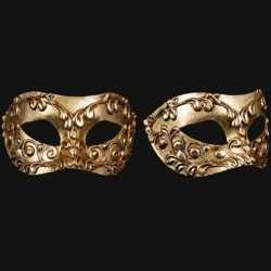 Venetiaans barok oogmasker goud pleisterwerk