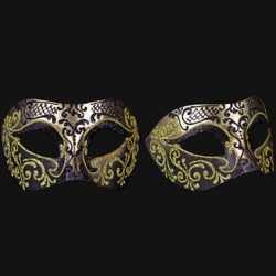 Venetiaans barok oogmasker goud zwart