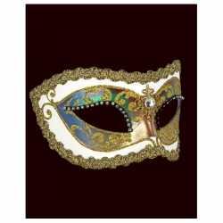 Venetiaans barok oogmasker wit strass