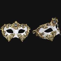 Venetiaans barok oogmasker wit