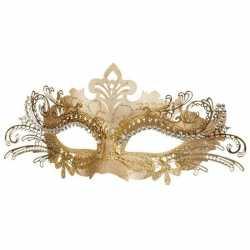 Venetiaans kunststof oogmasker goud
