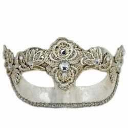 Venetiaans oogmasker colombina zilver