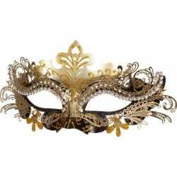 Venetiaans oogmasker zwart/goud