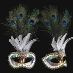 Venetiaans pauwveren oogmasker gekleurd