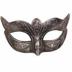 Venetiaans zilver kunststof oogmasker