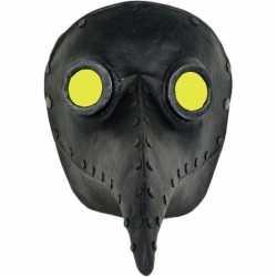 Venetiaans zwart gezichtsmasker pestdokter/pestmeester halloween