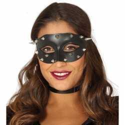 Venetiaans zwart oogmasker studs dames