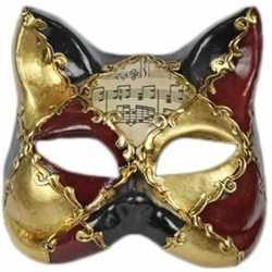 Venetiaanse muziek kat masker