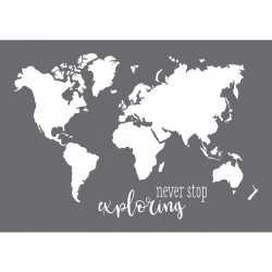 Verfsjabloon wereldkaart a3 formaat