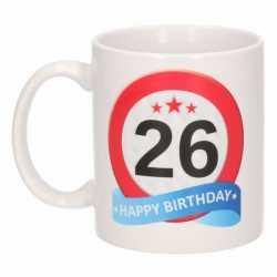 Verjaardag 26 jaar verkeersbord mok / beker