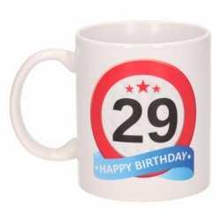 Verjaardag 29 jaar verkeersbord mok / beker