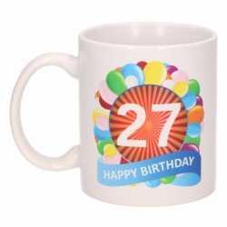 Verjaardag ballonnen mok / beker 27 jaar