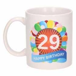 Verjaardag ballonnen mok / beker 29 jaar