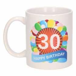 Verjaardag ballonnen mok / beker 30 jaar