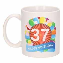 Verjaardag ballonnen mok / beker 37 jaar