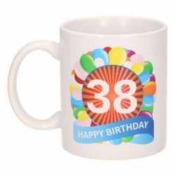 Verjaardag ballonnen mok / beker 38 jaar