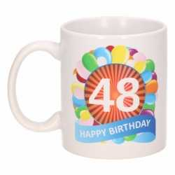 Verjaardag ballonnen mok / beker 48 jaar
