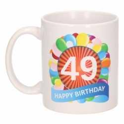 Verjaardag ballonnen mok / beker 49 jaar