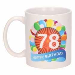 Verjaardag ballonnen mok / beker 78 jaar