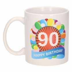 Verjaardag ballonnen mok / beker 90 jaar