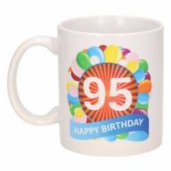 Verjaardag ballonnen mok / beker 95 jaar