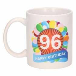 Verjaardag ballonnen mok / beker 96 jaar