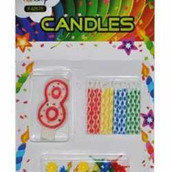 Verjaardag kaarsen set nummer 8