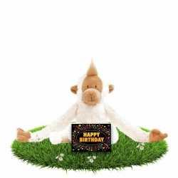 Verjaardag knuffel aapje 23 gratis verjaardagskaart